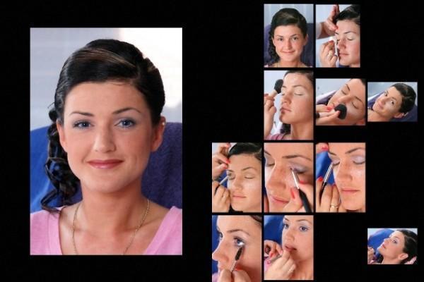 kolaż ze zdjęć makijaż okolicznościowy